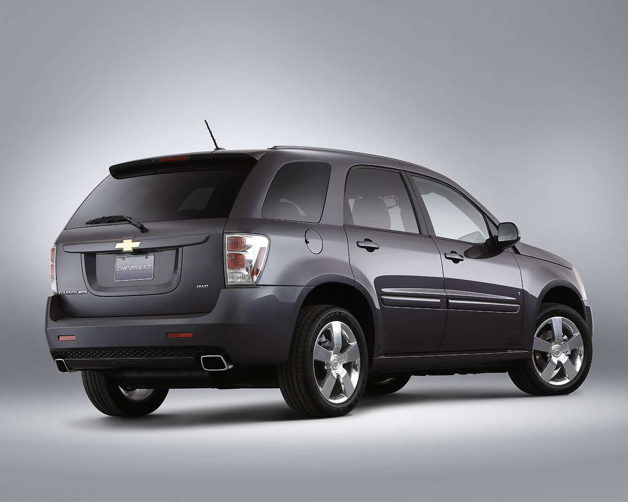 Обои на рабочий стол Chevrolet Equinox Sport Revealed 2008 back 1280x1024